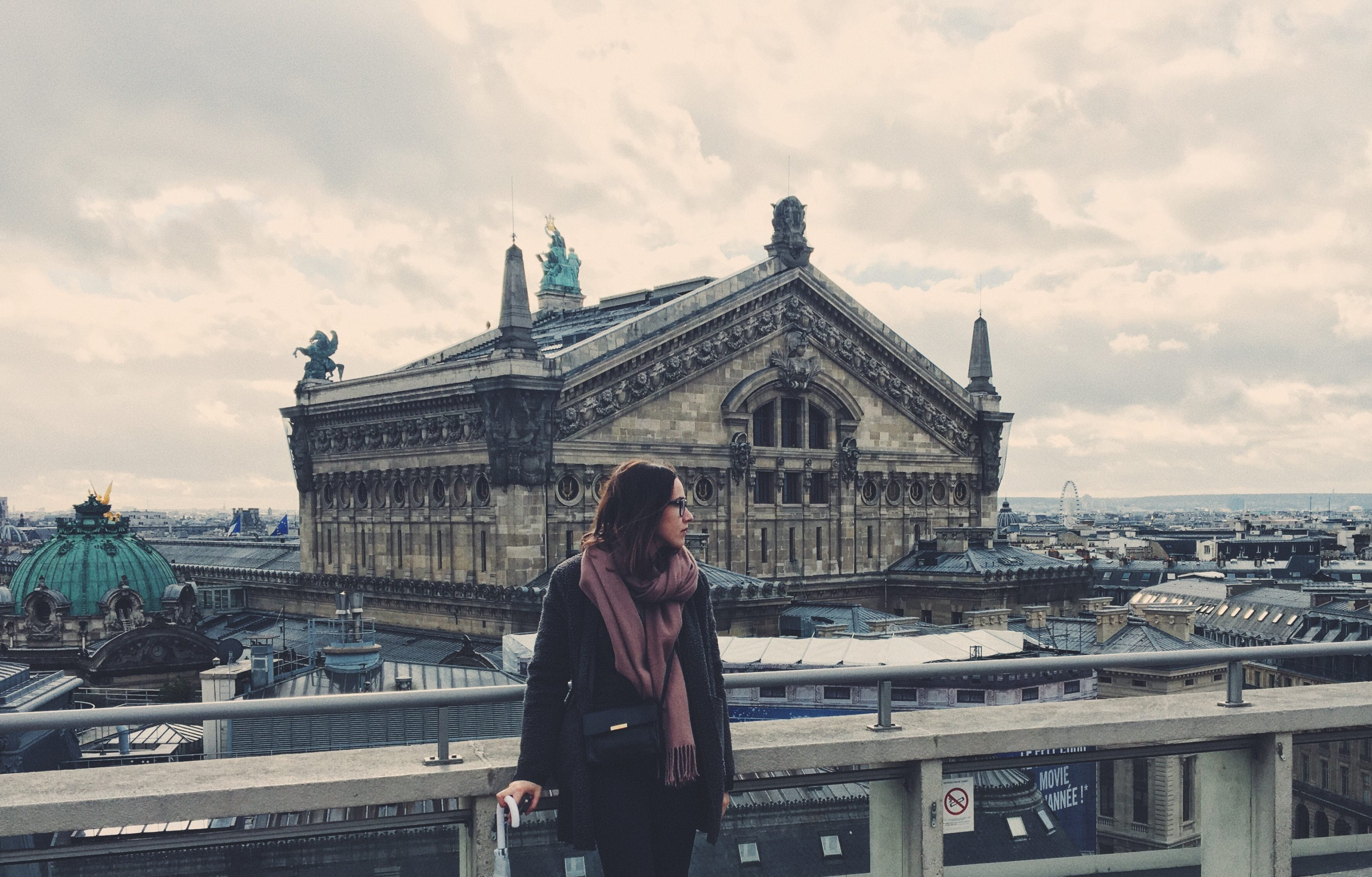 Paris Dachterrasse der Galeries Lafayette